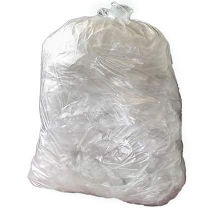 Picture of GR0102 MD CLEAR REFUSE SACK [200] 406 X 635 X 965