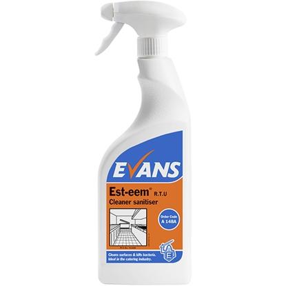 Picture of Evans Est-eem RTU Unperfumed Cleaner Sanitiser 750ml (Case)