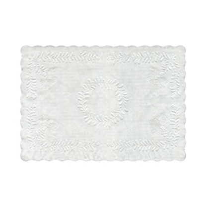 "Picture of ETP-16 EMBOSSD WHITE TRAY PAPERS 12"" x 16""  (1000)"