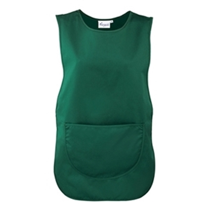 Picture of BOTTLE GREEN TABARD WITH POCKET- LARGE