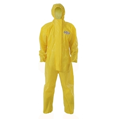 Picture of 96790 Kleenguard A71 Chemical Spray Protection Coveralls Hooded Yellow- Size XXL