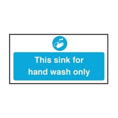 Picture of CS038 THIS SINK FOR HAND WASH ONLY S/A