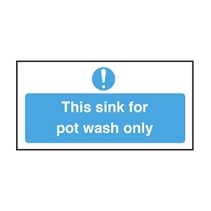 Picture of CS043 THIS SINK FOR POT WASH ONLY - S/A