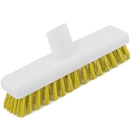 """Picture of 22.9cm (9"""") Yellow Washable Deck Scrub"""