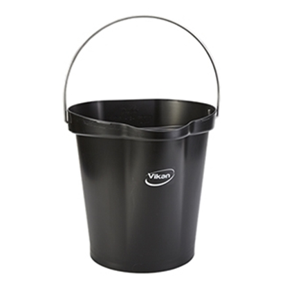 Picture of Vikan 56869 Hygiene Bucket 12 Litre Food Safe- Black