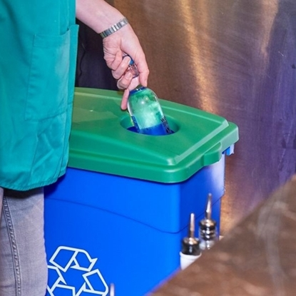 Picture of Wall Hugger Recycle Lid Green- for Bottles or Cans