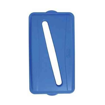 Picture of Wall Hugger Recycle Lid Blue- Slot for Paper