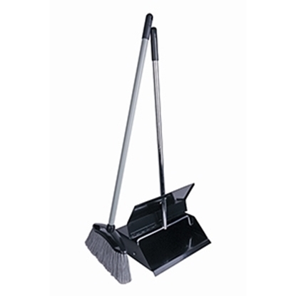 Picture of BLACK ENAMEL LOBBY DUSTPAN AND BRUSH COMBO