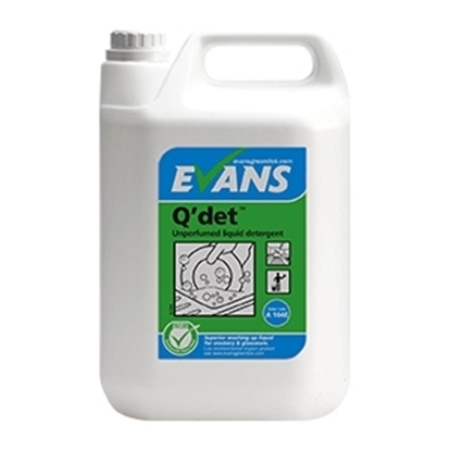 Picture of Evans Q'det™ Unperfumed Washing Up Liquid 5 Litre