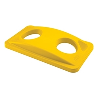 Picture of Rubbermaid Slim Jim Recycling Bottles & Cans Lid- Yellow