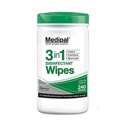 Picture of Q520110 MPCE MEDIPAL 3IN1 DIS/ WIPES (10x240)