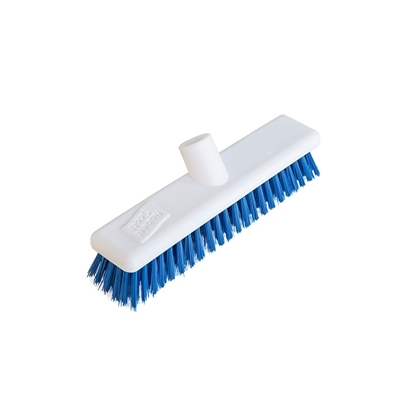 "Picture of 12"" WASHABLE BLUE STIFF HYGIENE BROOM HEAD"