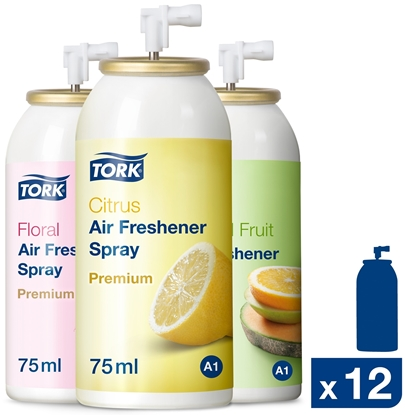 Picture of 236056 A1 Tork Mixed Pack Air Freshener Spray for a Dispenser 75ml