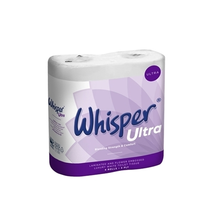 Picture of Whisper Ultra 3 Ply White Toilet Roll