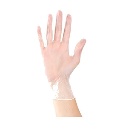 Picture of Clear Vinyl Powder Free Disposable Glove- Size: Small