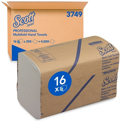 Picture of 3749 M FOLD SCOTT HAND TOWEL 1 PLY WHITE