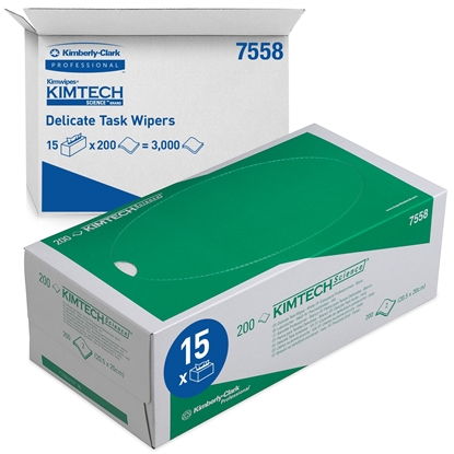 Picture of 7558 KMITECH SCIENCE DELICATE TASK WIPES 15X200