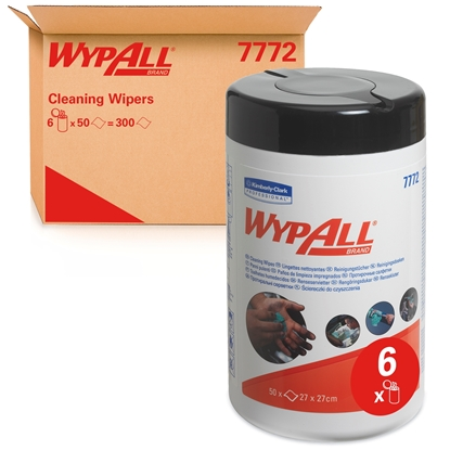 Picture of 7772 WYPALL GREEN 1PLY HAND WIPES (6 tubs)