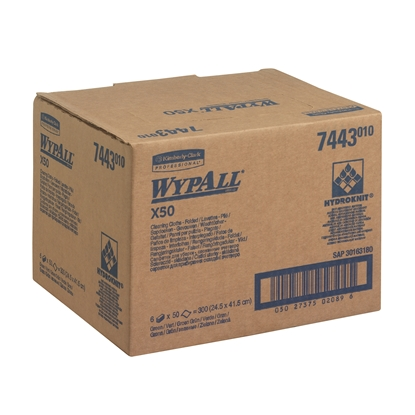 Picture of 7443S WYPALL X50 1PLY YELLOW CLEANING CLOTHS(C/S6)