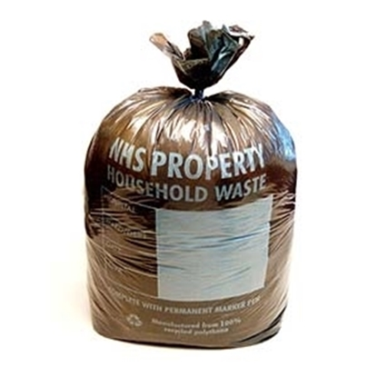 Picture of BLACK NHS WASTE SACK 11X17X26 (11 ROLLS X 50 SACK)